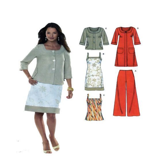 New Look 6788 Size 10-12-14-16-18-20-22 Womens Coordinates: Coat/Jacket Hip/Midi Length, Wide Leg Trouser, Tunic Style Dress and Top UNCUT by FindCraftyPatterns on Etsy