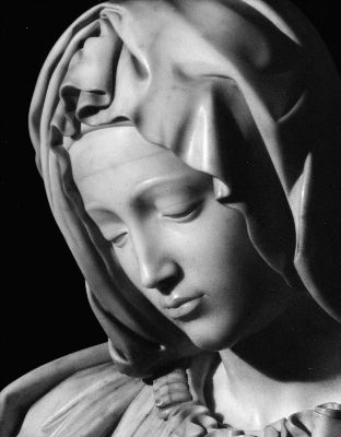 You cannot believe how delicate something can look even when carved from stone. The Pieta