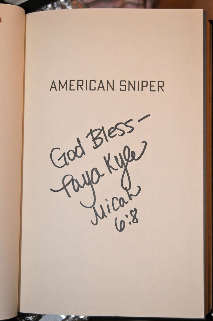 American Sniper Memorial Edition by Chris Kyle - signed by Taya Kyle