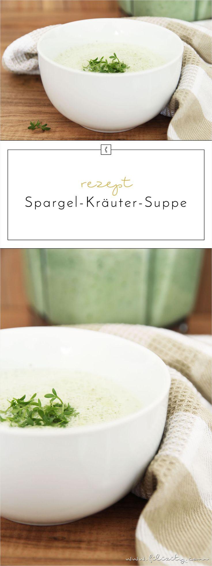 Schnelles Frühlings-Rezept: Spargelcremesuppe mit frischen Kräutern aus dem Mixer