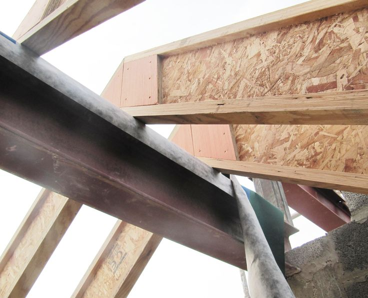 The house as a structural ridge beam made of steel.