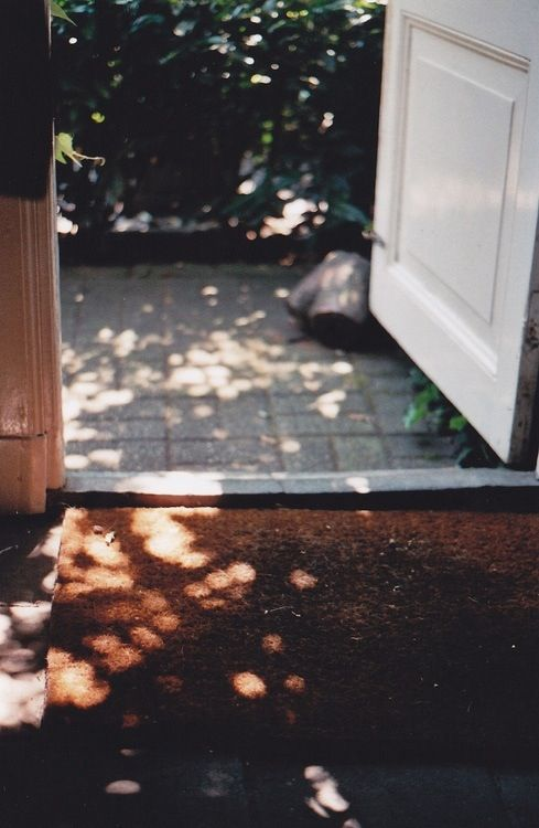 Morning sunlight on the door is an intriguing way of starting the day