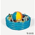 inflatable pool cooler with beach ball for pool party