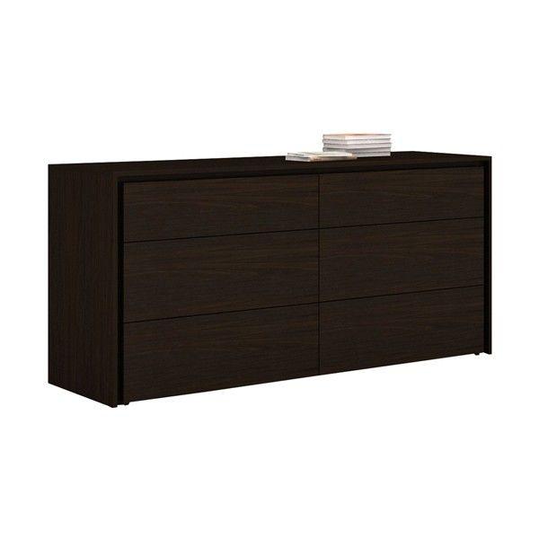 Casabianca Furniture - Zen Six Drawer Dresser In Espresso - CB-1104-D-E