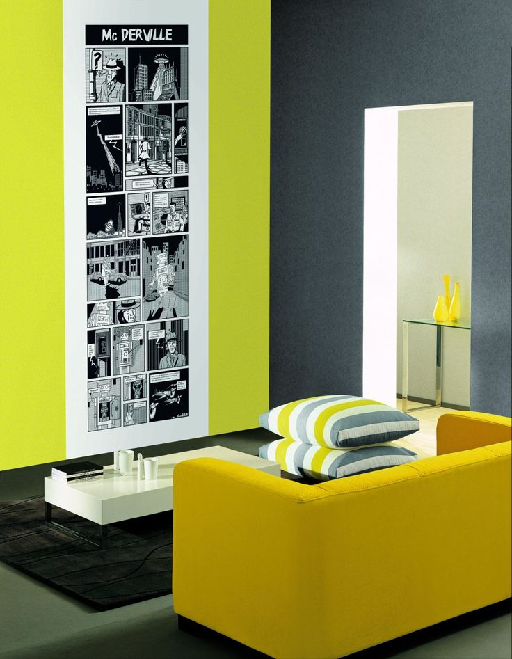 Casadeco So Wall Library Comics Wall Panel - £105.00 - Available at www.4-id-shop.co.uk