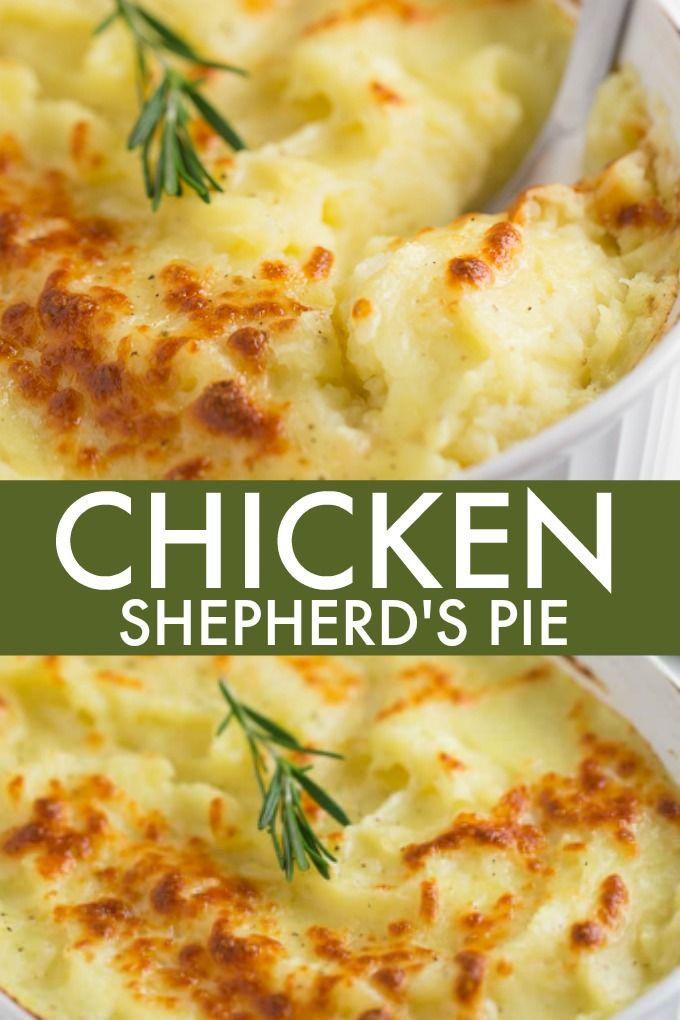 Chicken Shepherd S Pie Recipe Chicken Shepherd S Pie Chicken Pot Pie Recipes Recipes