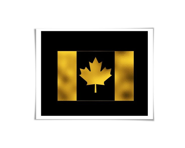 Canada Maple Leaf Flag Gold Foil Art Print. Gold. Silver. Copper. 35 Colours/3 Sizes. Canadian Travel Poster. The Canadian Maple Leaf flag in shiny genuine foil - gold, silver or copper. Sure to brighten up any space! ** You can choose from three different foil colours: gold, silver or copper. When you place your order, simply use the drop down menu on the order page to choose which foil you would like. For your background colour, you can choose from one of 35 different colours. Please…