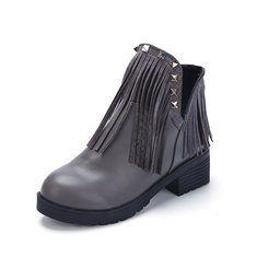 #Banggood Женщины Сапоги Toe Круглый кисточкой Квартиры Открытый Повседневный лодыжки Короткие сапоги (1075680) #SuperDeals