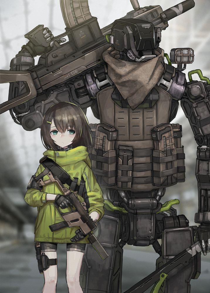 Cute Anime Girl Gun Wallpaper Quot Nidy 2d Quot Anime Dessin Manga Manga Dan Dessin