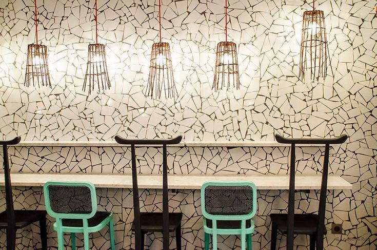 paola navone wraps ibaji restaurant in fragmented tiles