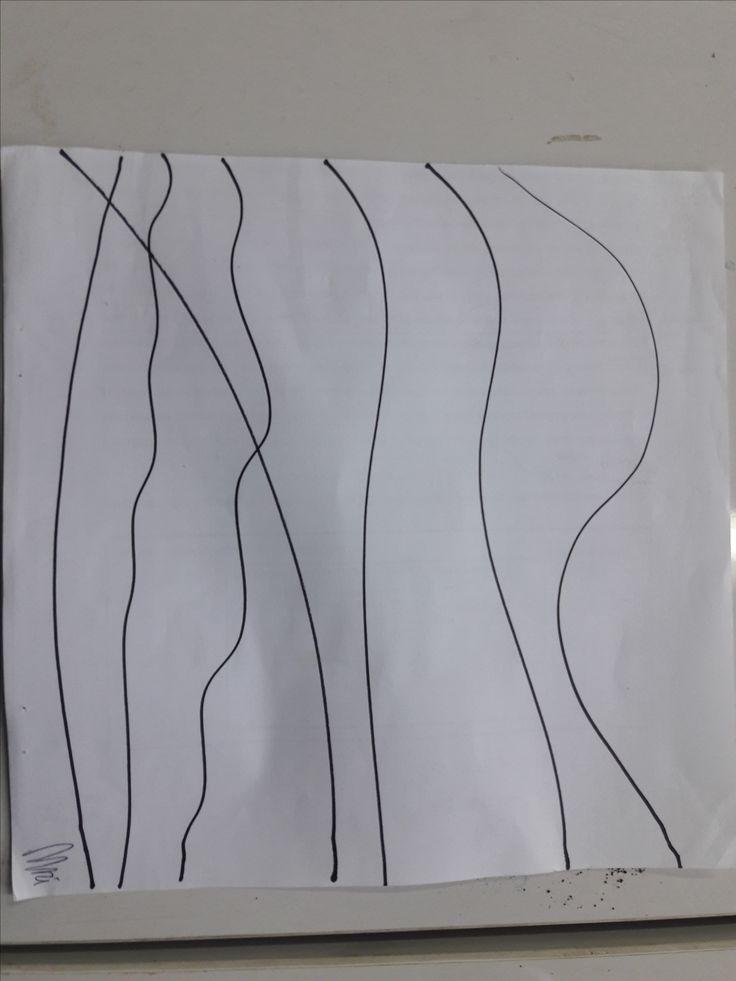 Basic Line 1 Curve lines made by black marker