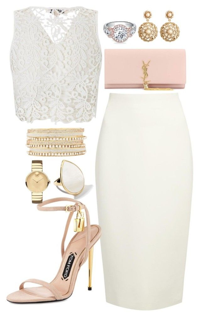 """Untitled #48"" by biancamarie17 on Polyvore featuring Donna Karan, Lipsy, Tom Ford, Yves Saint Laurent, Charlotte Russe, Movado, Ippolita, Brooks Brothers, DateNight and NightOut"