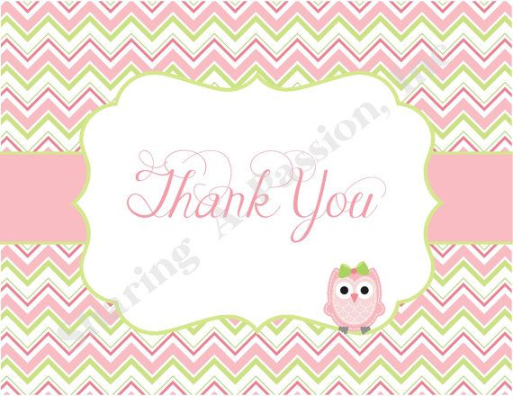 Best Thank You Cards Images On   Baby Shower Thank