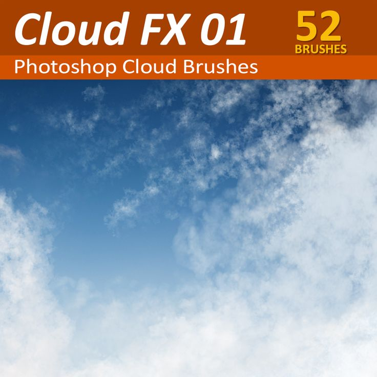 52 Photoshop Cloud Brushes. Dynamic pressure responsive Photoshop cloud brush tools for painting realistic clouds in Photoshop (retouching or compositing)