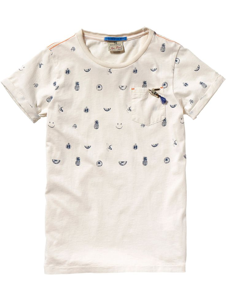 Camiseta con bolsillo en el pecho | Camisetas de manga corta | Ropa para niño en Scotch & Soda