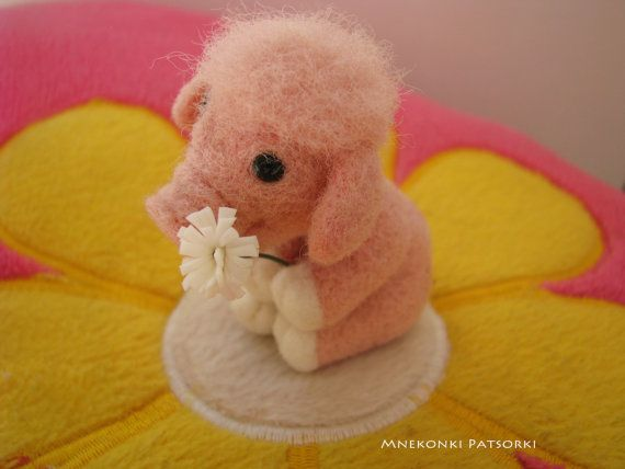 Needle felted Pig Made to Order Needle felted animal Miniature