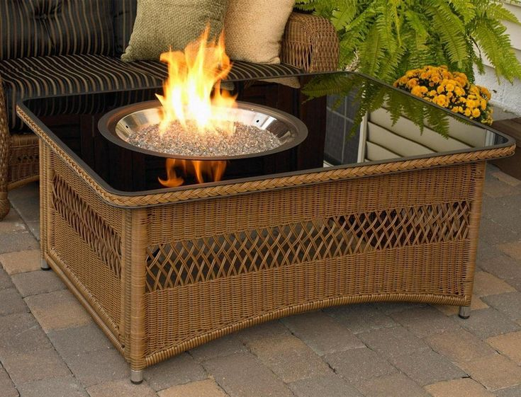 natural gas fire pit table toronto kit diy insert propane