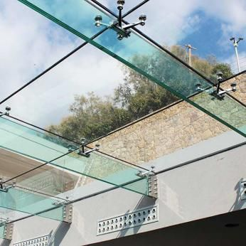 Fixed transparent STRUCTURAL GLASS roofs, atriums, canopies, skylights, for POOLS etc. (waterproof & airtight).