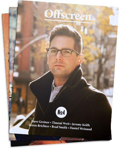 3-Issue-Subscription for Offscreen Magazine