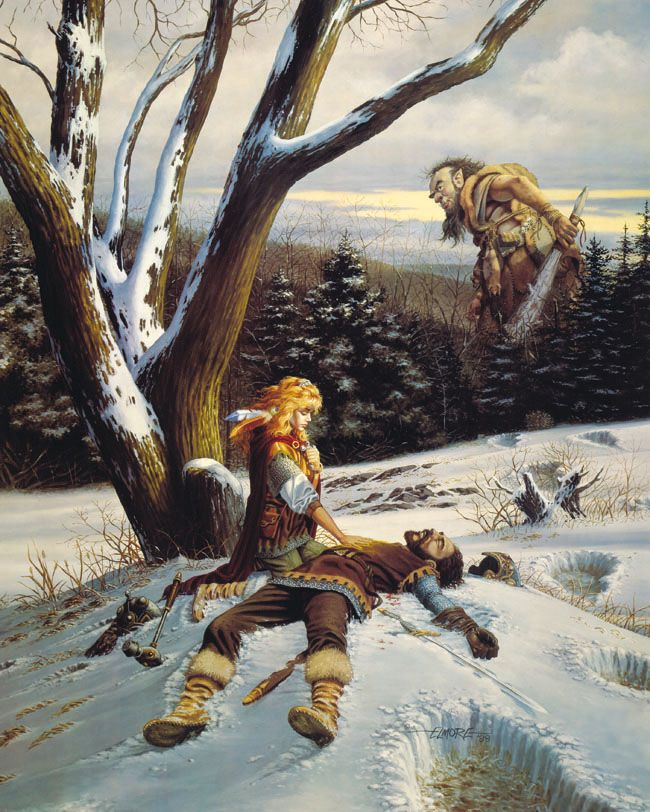 Larry Elmore, Avalyne the Life Giver--  One of the many Elmore paintings in my home!