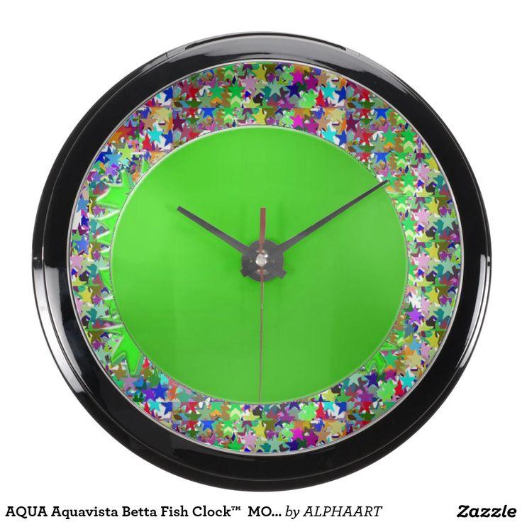 AQUA Aquavista Betta Fish Clock™  MOON LUNE Aquarium Clocks