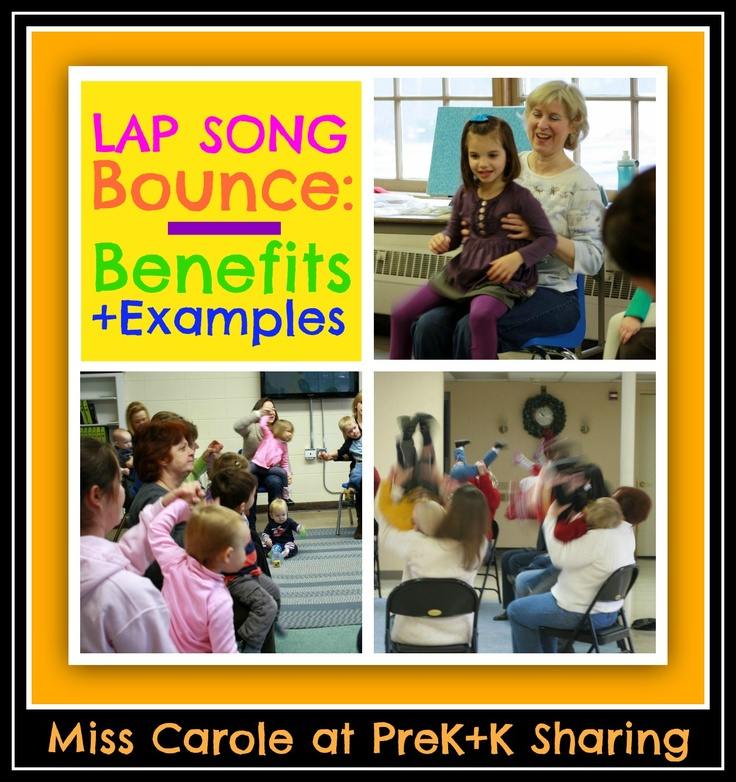 Lap Bounce Rhymes and Rhythms with Miss Carole at PreK+K Sharing (Examples + Benefits)