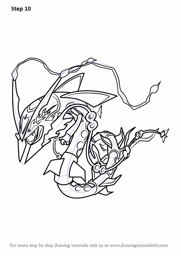 32 Mega Rayquaza Coloring Page 2020 塗り絵 ポケモン アート