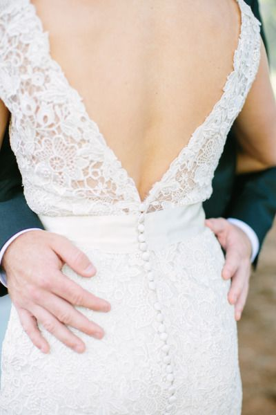 Deep-V and buttons: http://www.stylemepretty.com/2014/12/10/whimsical-connecticut-country-club-wedding/ | Photography: Love & Light - http://loveandlightphotographs.com/