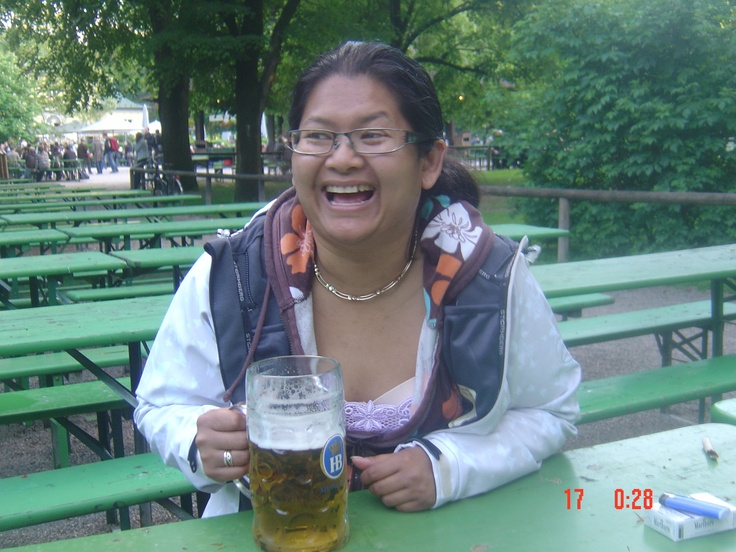 Ahhhh... Die Maßkrug ..... At The Chinese Tower (The English Gardens) in Munich. We do like :P