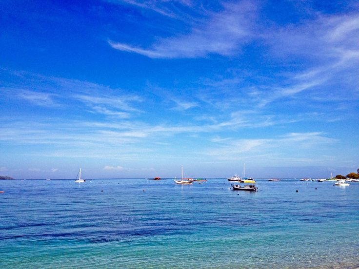 Sea view from south beach Gili Air, Lombok Utara, Indonesia