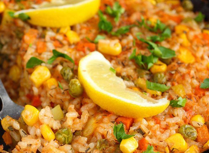 Мексиканский рис с кукурузой и горошком ~ Книга рецептов на блогспот