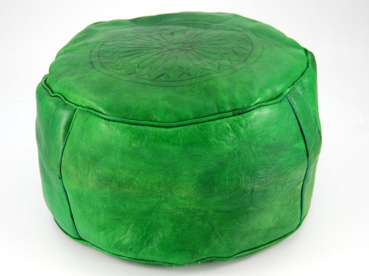 Green leather seat from Morocco http://www.etnobazar.pl/shop/etnoswiat/profile/search/ca:pufy