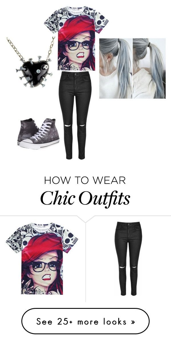 """""""outfit"""" by heythereimpeacegirl23 on Polyvore featuring Glamorous and Converse"""