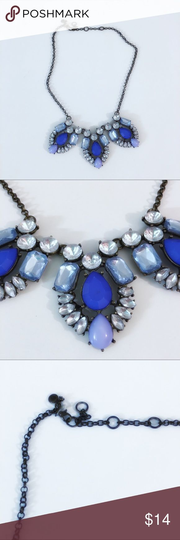 Francescas Collections Sapphire Statement Necklace Francesca's Collections Sapphire Blue Statement Necklace - New but no tag (was missing at time of purchase—see elastic that held the former tag in pictures) Francesca's Collections Jewelry Necklaces
