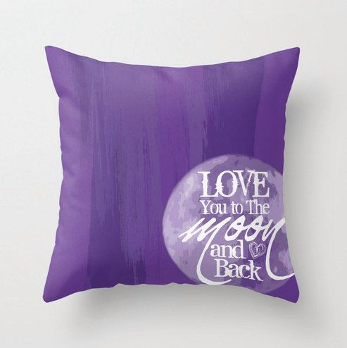 Throw+Pillow+To+the+Moon+and+Back+Purple. & 39 best BUSINESS IDEAS images on Pinterest | Cushions Decorative ... pillowsntoast.com