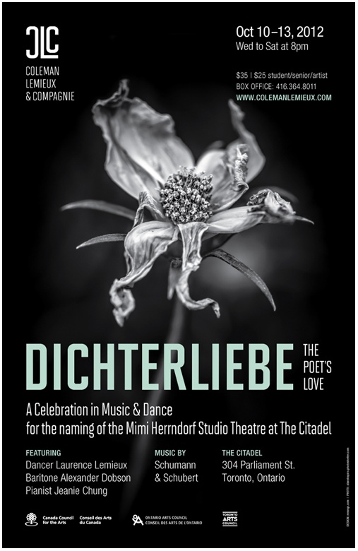 poster for COLEMAN LEMIEUX & COMPAGNIE – Dichterliebe (The Poet's Love)