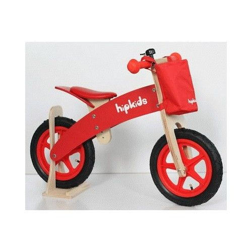 Red Kids Wooden Balance Bike