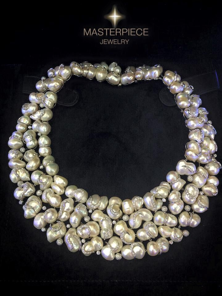 collection neckace pearl luna collections lead pearls jewelry