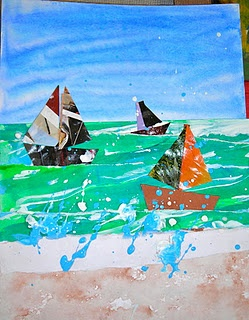 Collage seasapes Art Lesson Ideas - to refresh |Pinned from PinTo for iPad|