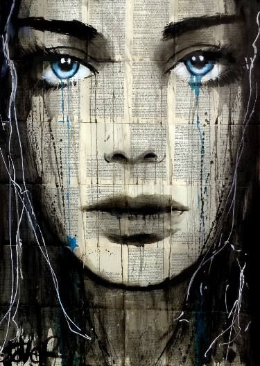 "Saatchi Art Artist LOUI JOVER; Drawing, ""stark blue"" #art"