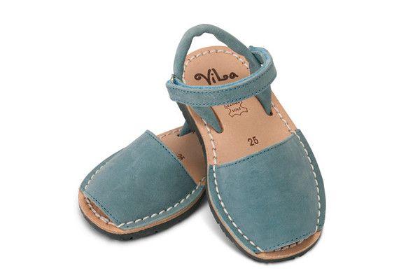 Blue leather sandal