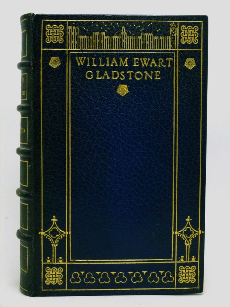 William Ewart Gladstone, Statesman and Scholar in  a fine full blue morocco binding by the Camberwell School of Arts.