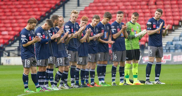Queen's Park player one minute applause for Ivy before the Ladbrokes League One game between Queen's Park and East Fife