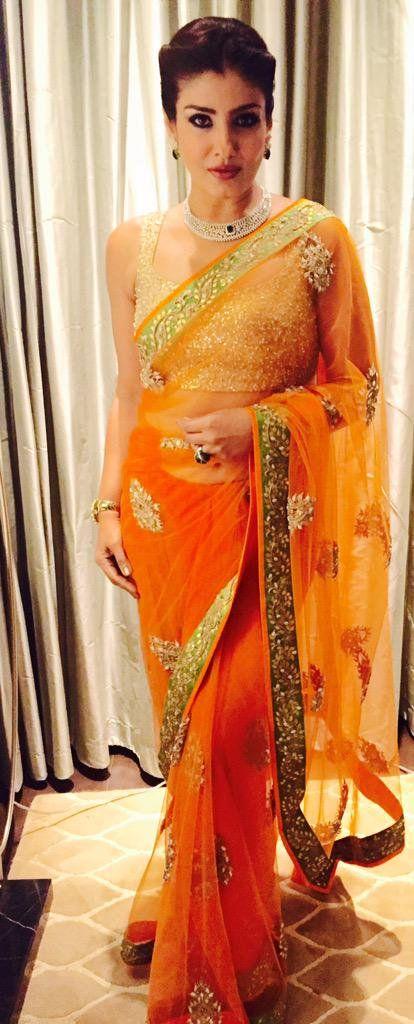 Raveena Tondon wearing a #shyamalbhumika #saree