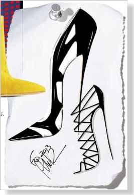 Sketches from Gianvito Rossi's fall 2013 collection.