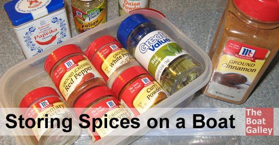 Tips on how to store spices and mix packets in hot humid conditions. Spices can lose their zing quickly on a boat . . . 7 tips to keep them flavorful, beginning with when you buy them!