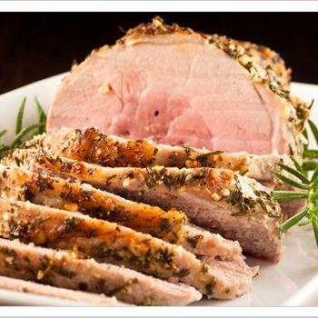 Garlic-Herb Crusted Boneless Pork Sirloin Roast