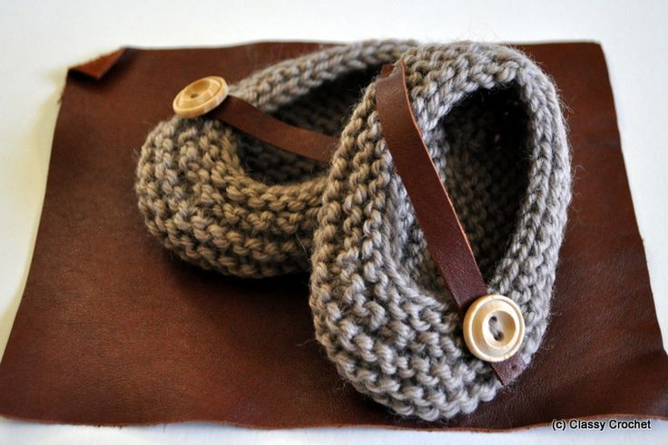 Knitting Project: Au Naturale Knit Baby Booties