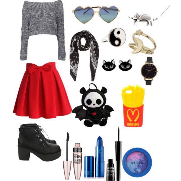 If I could dress my best friend by hajimo on Polyvore featuring polyvore, fashion, style, Boohoo, Chicwish, Miss Selfridge, Accessorize, Yves Saint Laurent, Wildfox, Moschino, Lipstick Queen, Stila, Lord & Berry and Maybelline