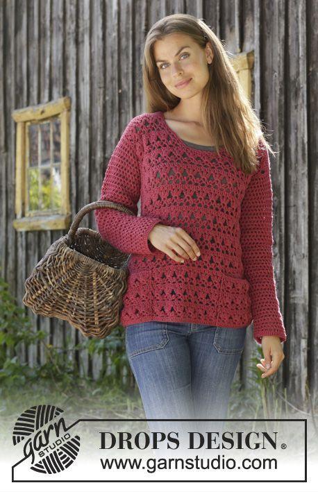 Last Harvest Crocheted Jumper In Drops Merino Extra Fine The